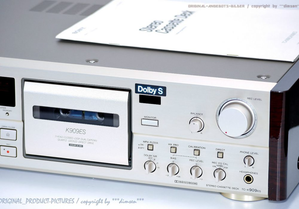 索尼 SONY TC-K909ES 高级 三磁头卡座