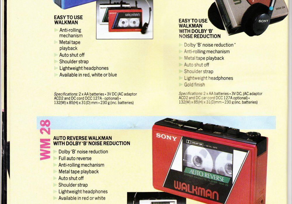 Sony WM-28