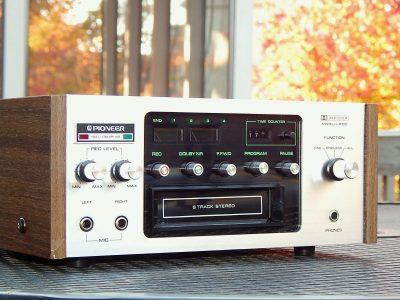 先锋 PIONEER H-R100 8 Eight Track Tape 卡座 Player 录音机 PROFESSIONALLY SERVICED!