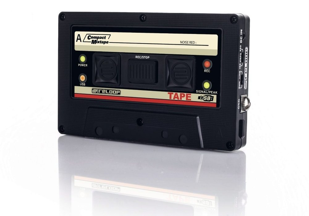 Reloop USB Mixtape Recorder with Retro Cassette Look