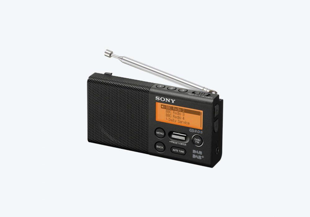 索尼 SONY XDR-P1DBP Pocket DAB/DAB+ 迷你收音机