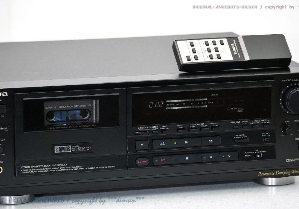 AIWA XK-S7000 High-End 磁带 Tape 卡座 1A-Zustand! Revidiert + 1J.Garantie!