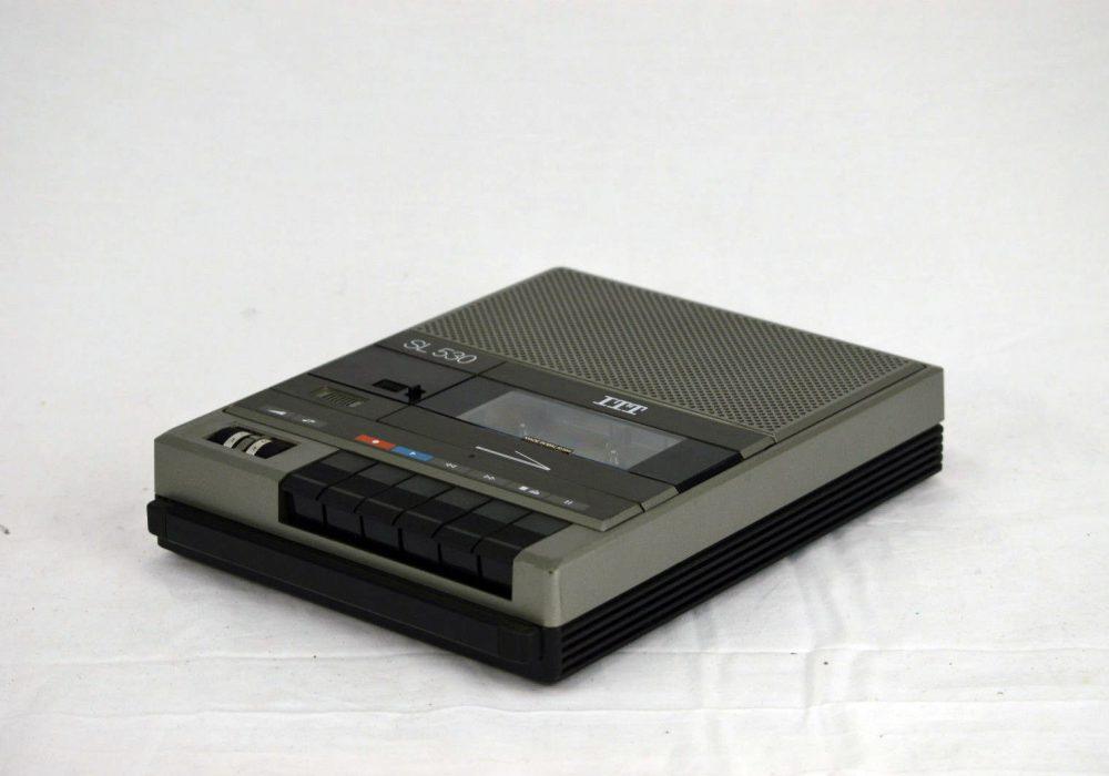 古董 ITT 530 Personal 便携 磁带 磁带录音机 / Player