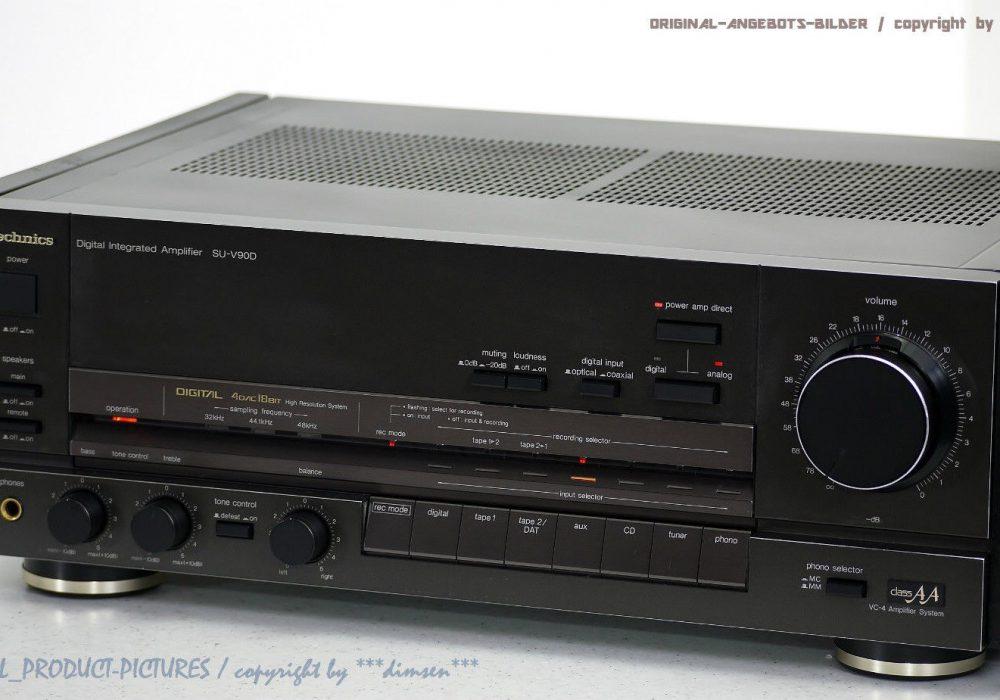 松下 Technics SU-V90D High-End 立体声 Verstärker/Amp<wbr/>lifier!! Gewartet + 1J.Garantie!