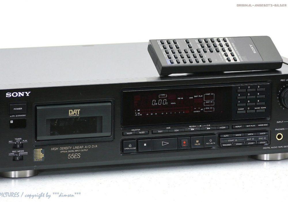 索尼 SONY DTC-55ES High-End DAT-录音机/D<wbr/>igital Audio Tape FB+OVP!! + 1j.Garantie!!