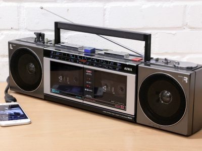 AIWA CS-W330K boombox ghettoblaster double 磁带 player AUX 1980's SERVICED