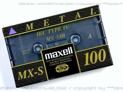 MAXELL MX-S 100 Type-IV 盒式磁带
