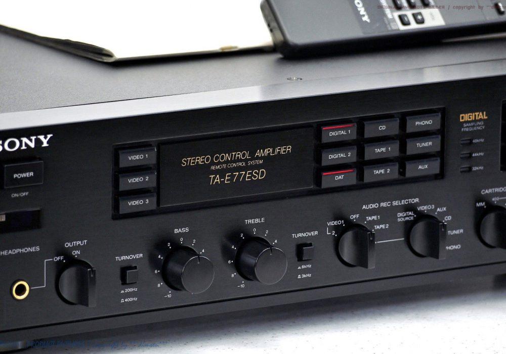 索尼 SONY TA-E77ESD High-End Voverst盲rker/P<wbr/>reAmplifier 1A-Zust! Revidiert+1J.G<wbr/>arantie