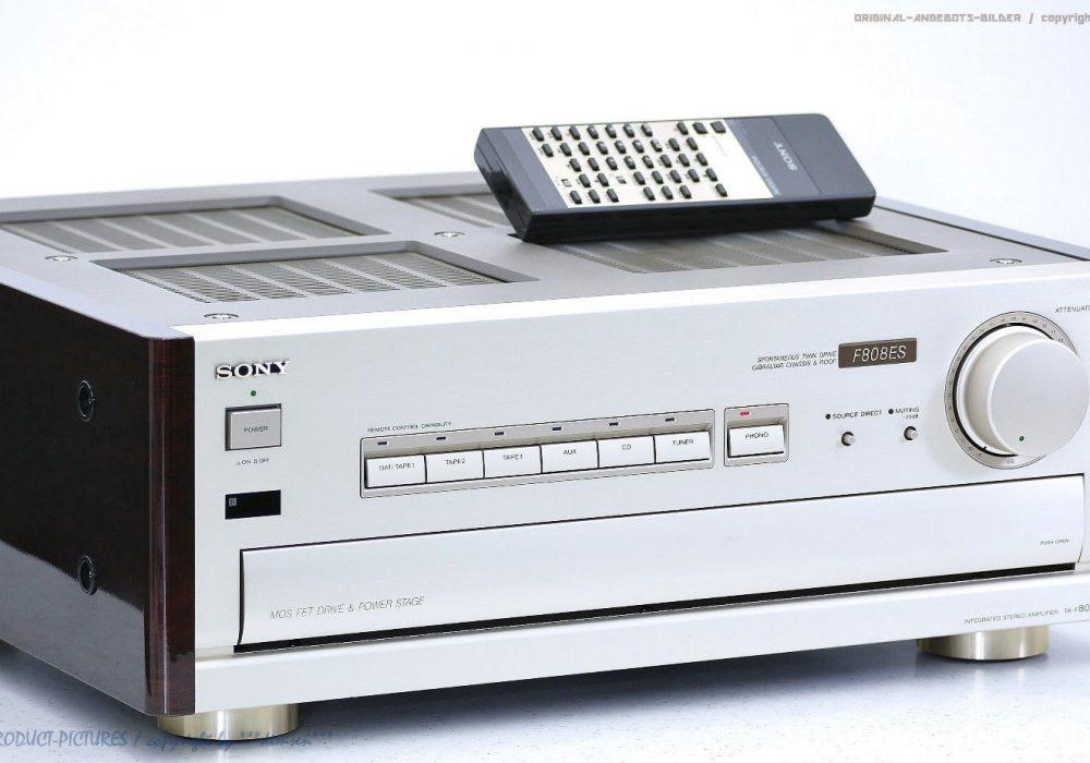 索尼 SONY TA-F808ES High-End Verstärker/Amp<wbr/>lifier mit FB in Best-Zustand+1<wbr/>J.Garantie!