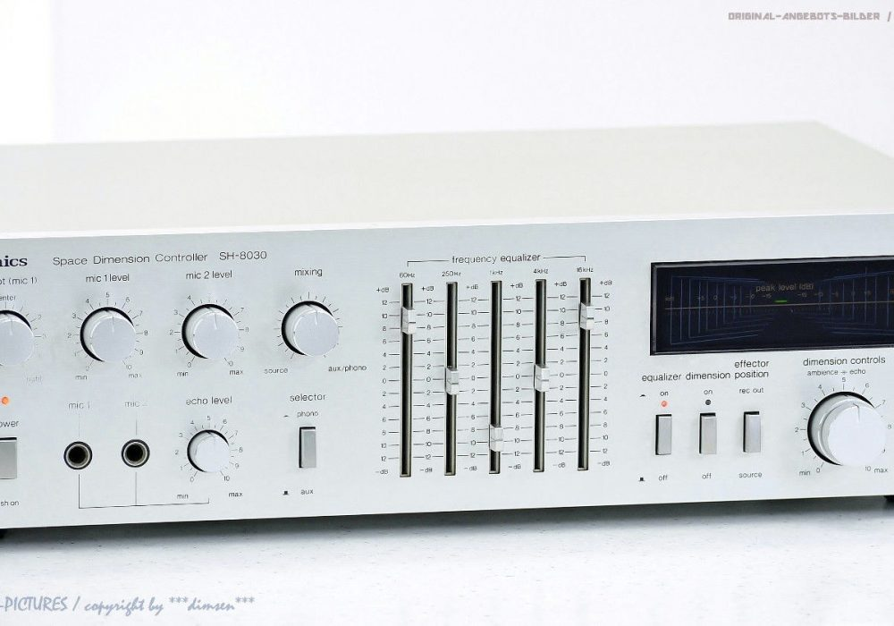 松下 Technics SH-8030 古董 Space Dimension Controller/Hal<wbr/>l Equalizer Top+1J.Gar!