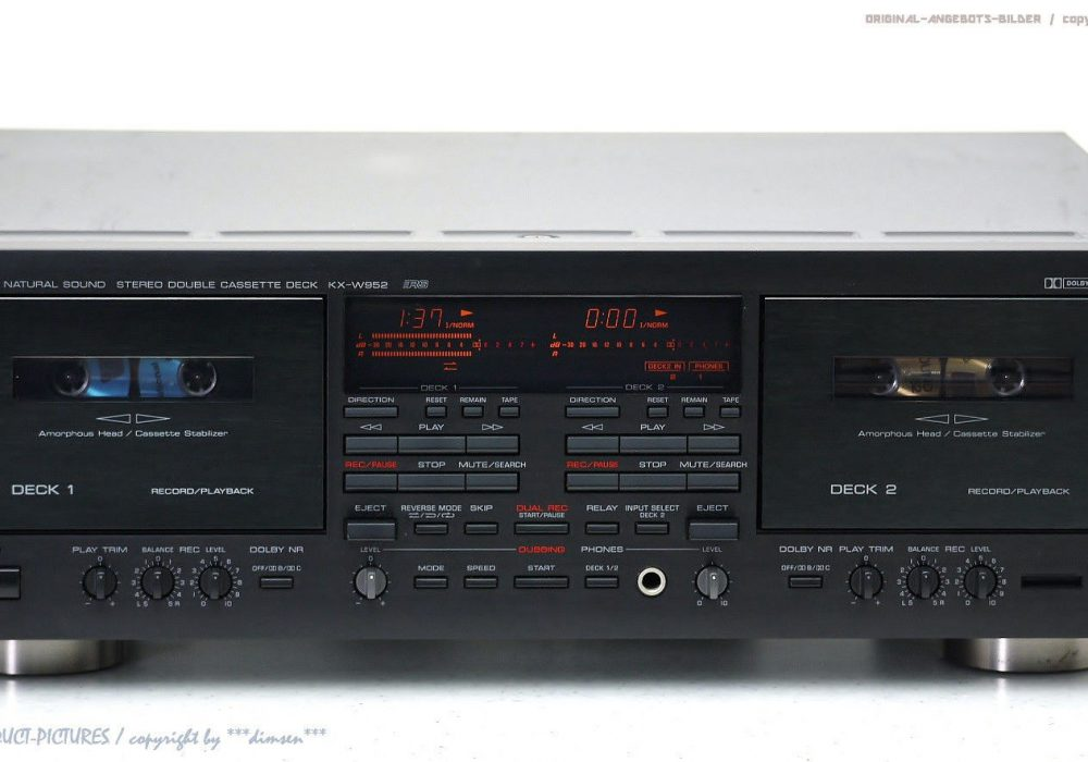 YAMAHA KX-W952 RS High-End 磁带n Tape 卡座!! Revidiert+1j.G<wbr/>arantie!! Top!!