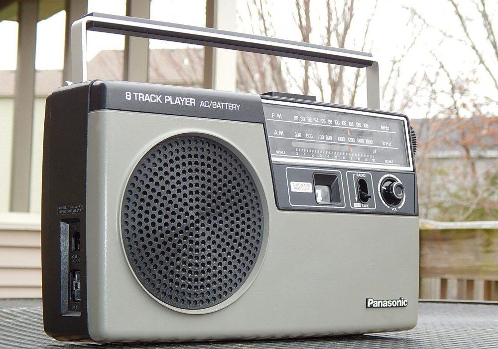 松下 Panasonic RQ-832DS AM/FM/8 Eight Track Player 便携 PROFESSIONALLY SERVICED!