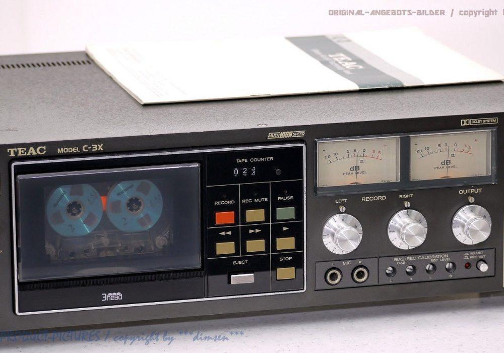 TEAC C-3X 古董 磁带 Tape 卡座 Top-Zustand OVP+BDA! Revidiert+1J.G<wbr/>arantie