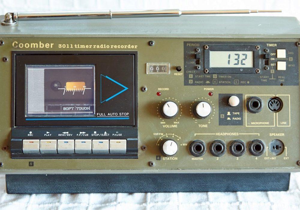 COOMBER 3011 CASSETTE PLAYER RECORDER