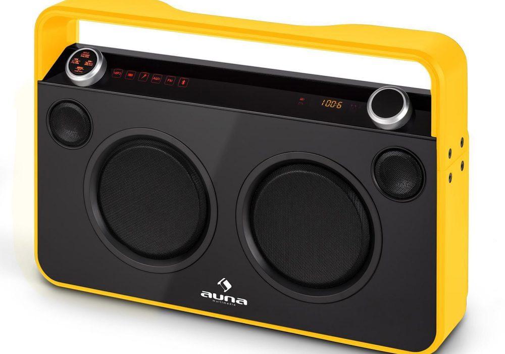 Auna Bebop Ghettoblaster Boombox USB/RADIO 蓝牙音箱