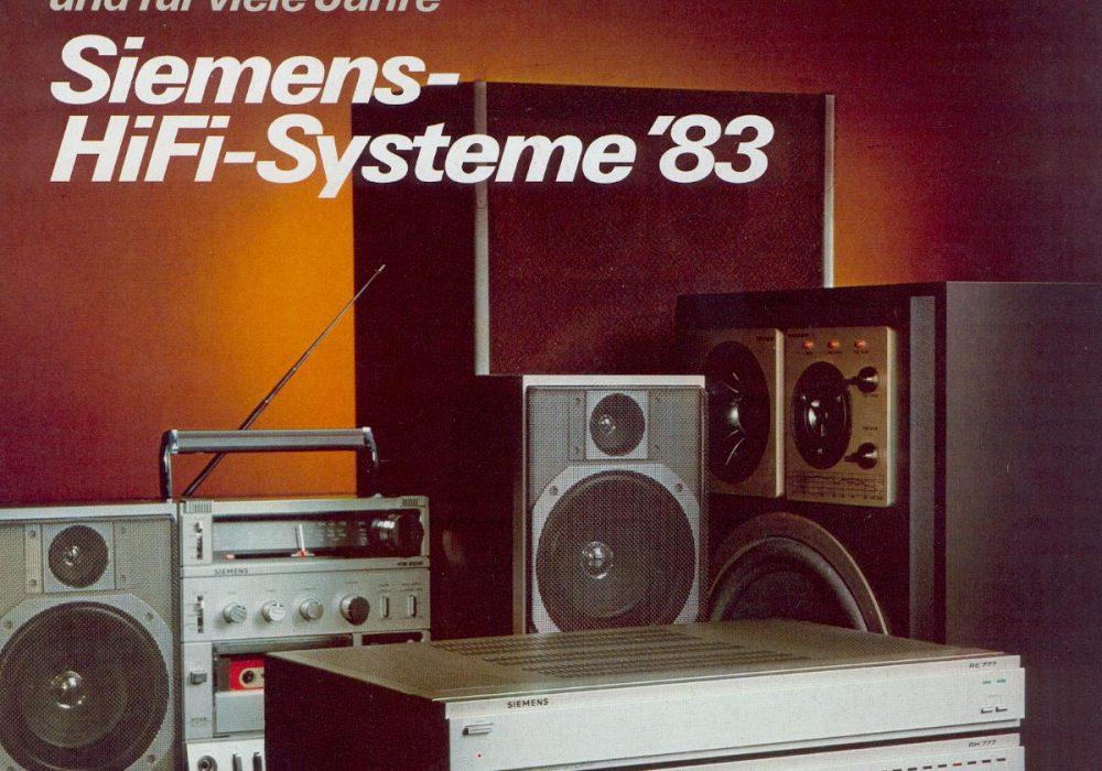 Siemens HiFi-Systeme '83