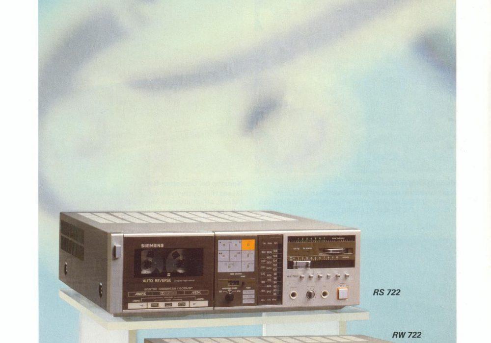 Siemens-HiFI-Systeme und Radiogeräte 1984