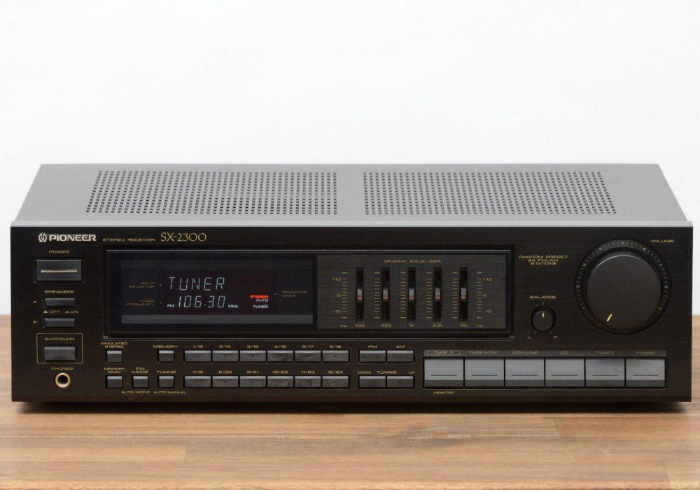 先锋 PIONEER SX-2300 立体声 收音机 / Radio / Verstärker / Amplifier in schwarz