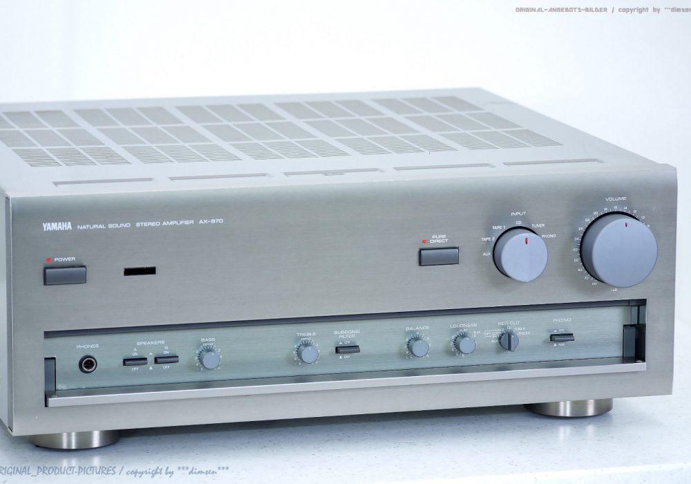 YAMAHA AX-870 High-End 立体声 Verstärker/Amp<wbr/>lifier!! Gewartet + 1J.Garantie!