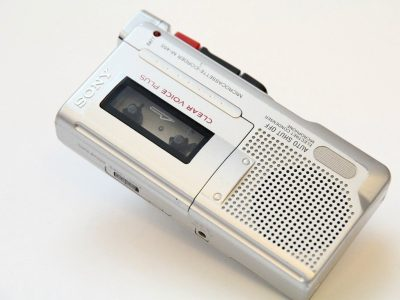 索尼 SONY 微型盒式磁带 Clear Voice 录音机 M-455 Handheld Dictaphone Auto Shut Off
