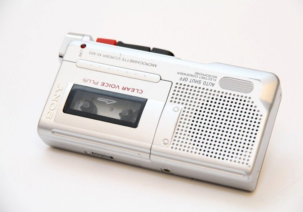 索尼 SONY 微型盒式磁带 Clear Voice 录音机 M-455 Handheld Dictaphone Auto Shut Off