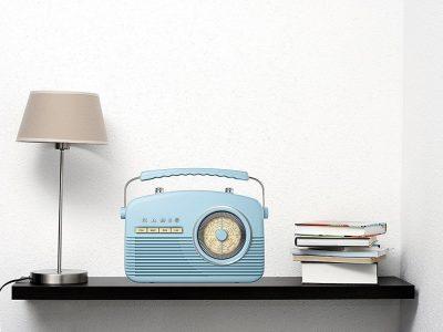 AKAI A60010BL 4 Band AM/FM/MW/LW 仿古便携式收音机