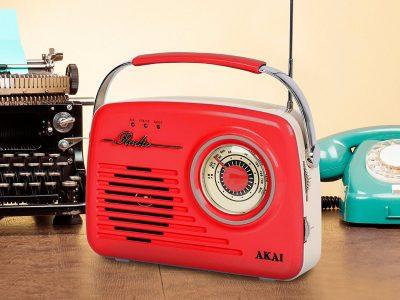 AKAI A60014R AM/FM 仿古便携式收音机