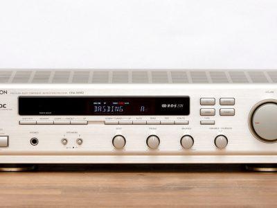 天龙 DENON DRA-385RDS 立体声 收音机 / Verstärker / Radio in silber-champag<wbr/>ner