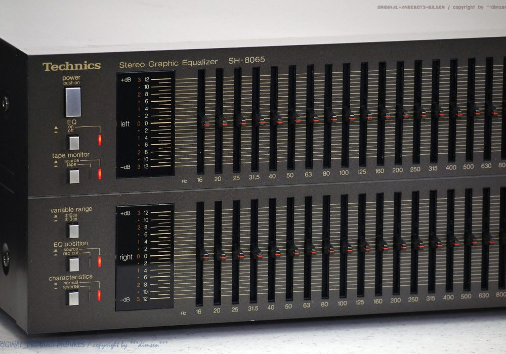 松下 Technics SH-8065 古董 High-End Graphic 立体声 EQ Equalizer Revidiert+1J.G<wbr/>ar.!