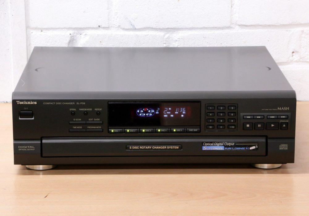 松下 Technics SL-PD8 5碟连放 CD播放机