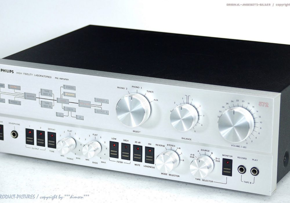 PHILIPS 572 LAB Series 22AH572 Laboratories 前级放大器