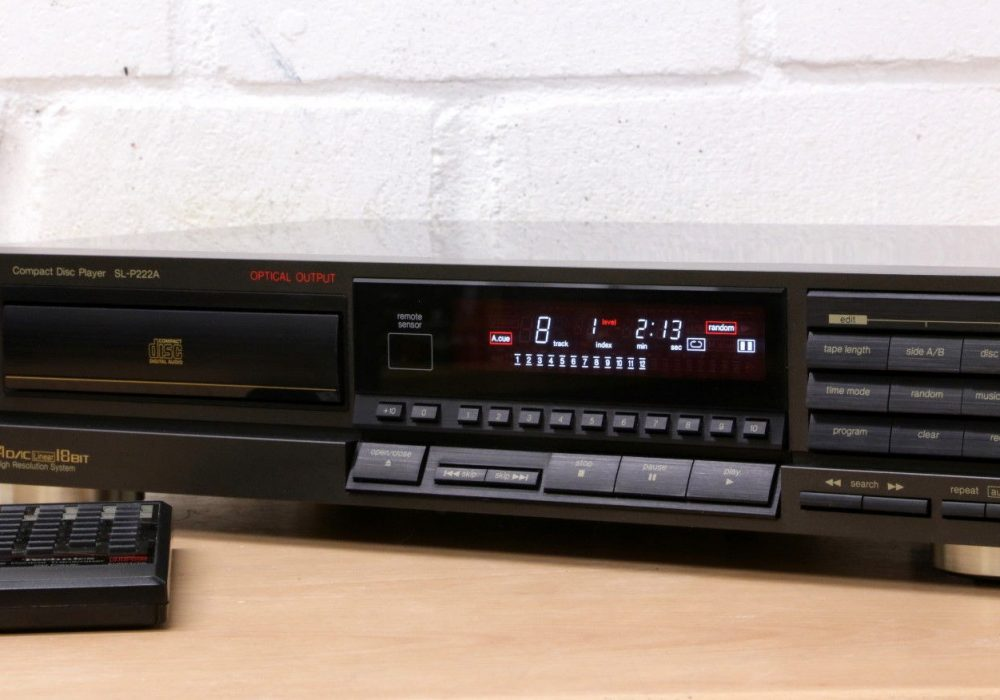 松下 Technics SL-P222A Hi-Fi CD player 4 DAC 18-Bit Made in Germany Dig out