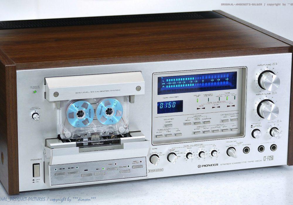PIONEER CT-F1250 古董 High-End 磁带卡座! Revidiert+1J.G<wbr/>arantie! SPEC!!