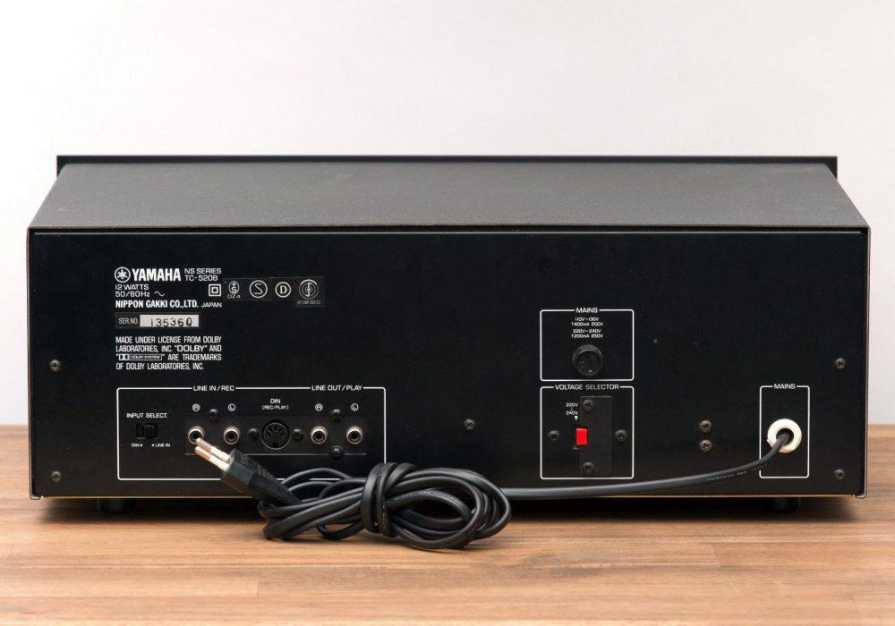 雅马哈 YAMAHA TC-520B 立体声 Tapedeck / Kassettendeck in schwarz mit OVP