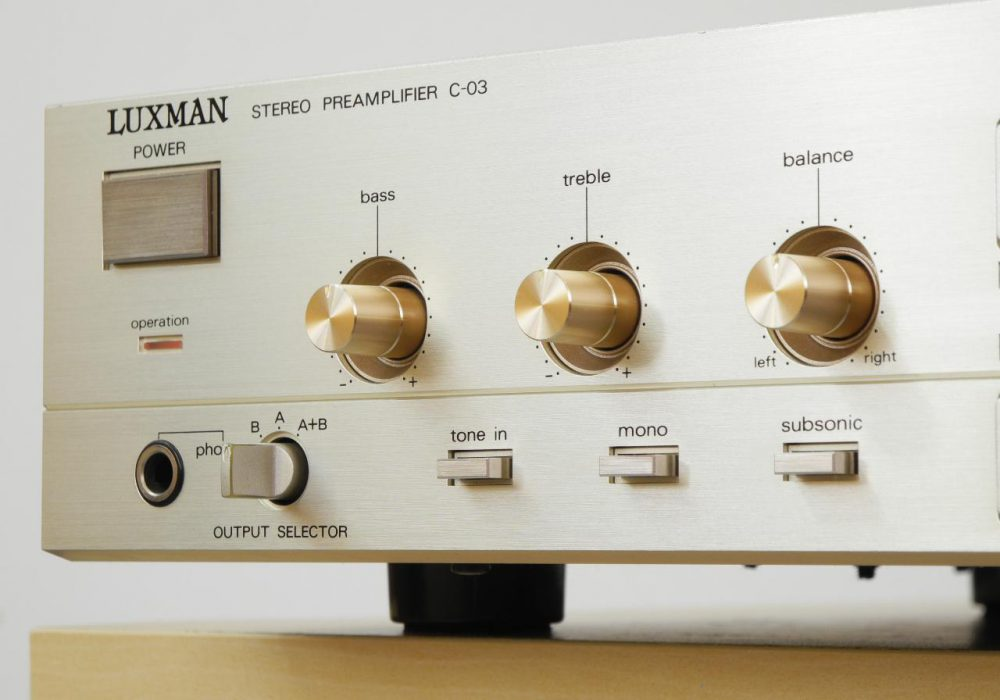 LUXMAN C-03 前级放大器