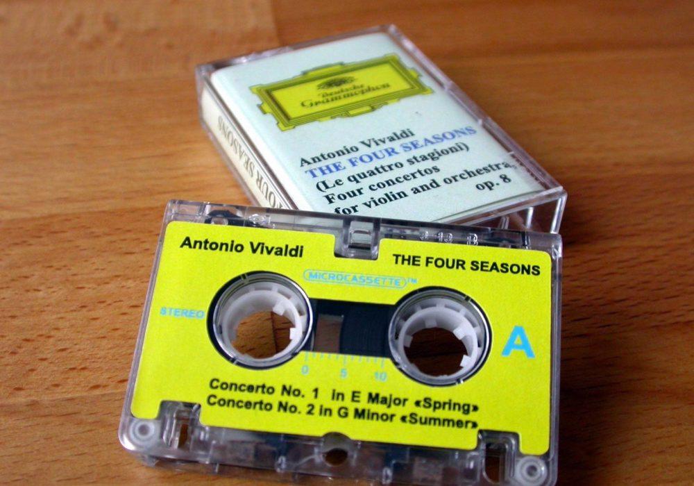 """Antonio Vivaldi \""""The Four Seasons\"""" 微型盒式磁带"""