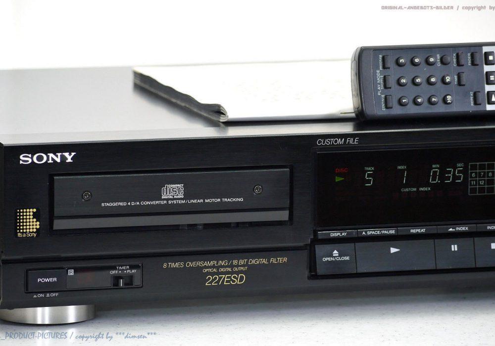 索尼 SONY CDP-227ESD High-End CD-Player mit FB+BDA in 1A-Zustand + 1J.Garantie!! ES