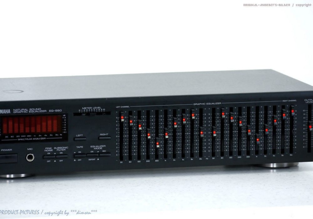 雅马哈 YAMAHA EQ-550 High-End Graphic Equalizer/Spec<wbr/>trum-Analyzer Top-Zust.+1J.G<wbr/>arantie