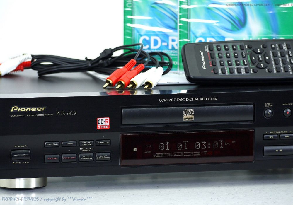 PIONEER PDR-609 High-End CD-录音机 mit BDA+FB in 1A-Zustand!! + 1J.Garantie!!