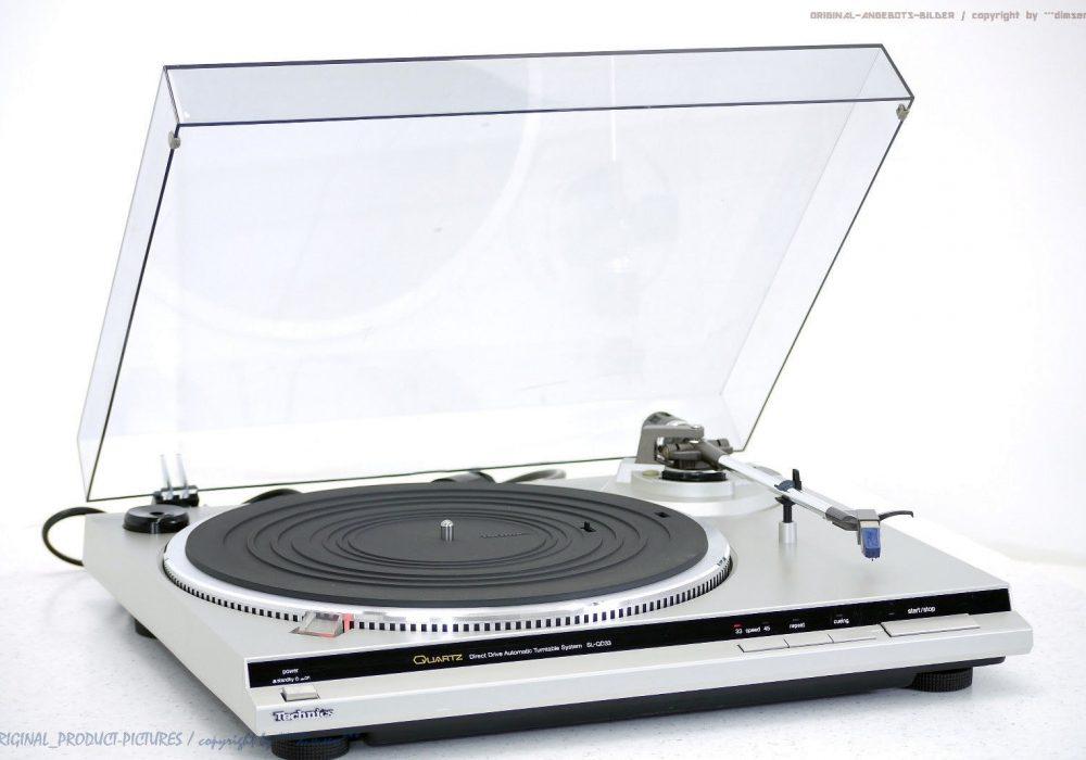 松下 Technics SL-QD33 High-End Plattenspieler<wbr/>/黑胶唱机 + EPC-P30!! Top +1J.Garantie