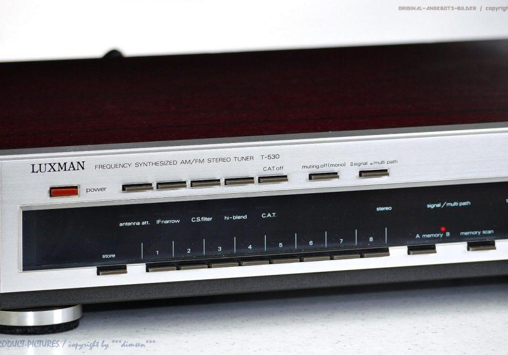 力士 LUXMAN T-530 Spitzenklasse 古董 AM/FM 立体声 Tuner Top-Zustand! + 1J.Garantie