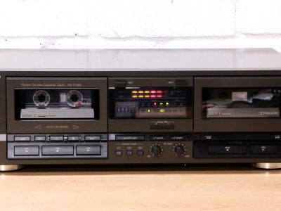 松下 Technics RS-TR165 Double cassette tape deck Dolby B C auto reverse JAPAN