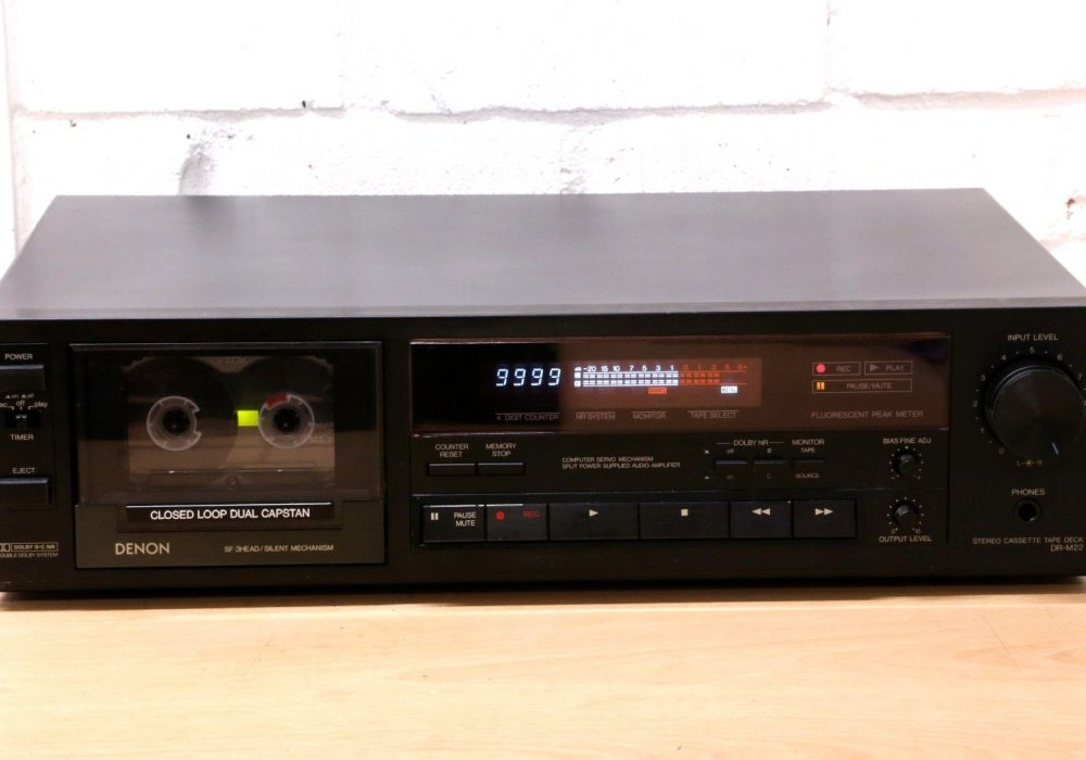DENON DR-M22 Hi-Fi cassette tape deck Dolby B/C 3-HEAD closed loop dual capstan