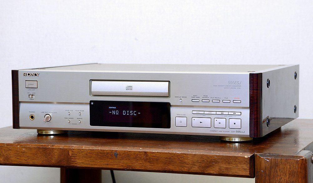 動作品 SONY ソニー CDP-555ESJ CDプレイヤー リモコン付 ベルト交換済