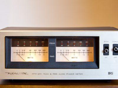Realistic APM-200 Peak & RMS Audio Power Meter 功率放大器