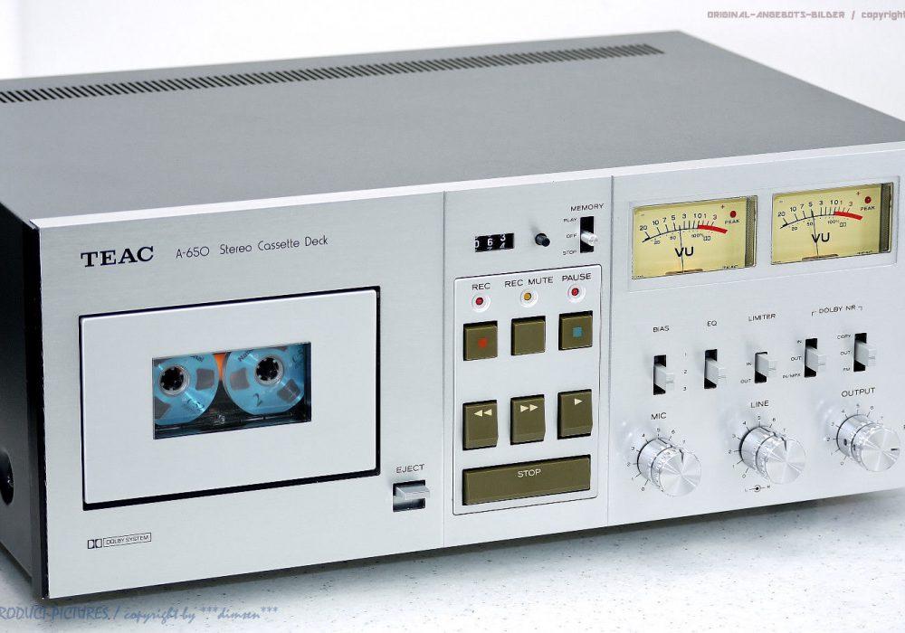 TEAC A-650 古董 High-End 磁带 Tape 卡座 1A-Zustand! Revidiert+1J.G<wbr/>arantie