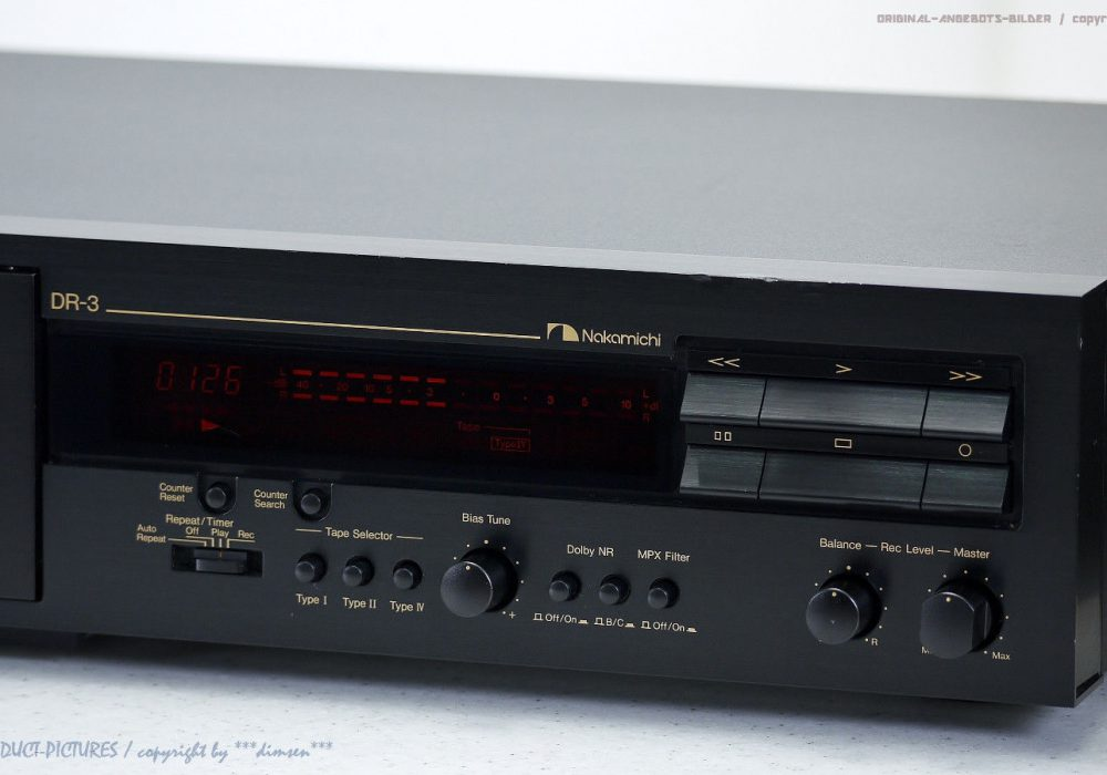 NAKAMICHI DR-3 High-End 磁带 Tape 卡座 Top-Zustand!! Revidiert+1J.G<wbr/>arantie!!