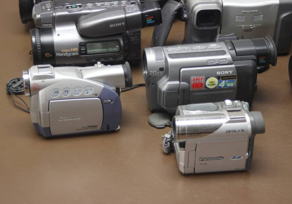 Victor GZ-S5 SONY CCD-TR1000 Canon DM-FV200 摄像机