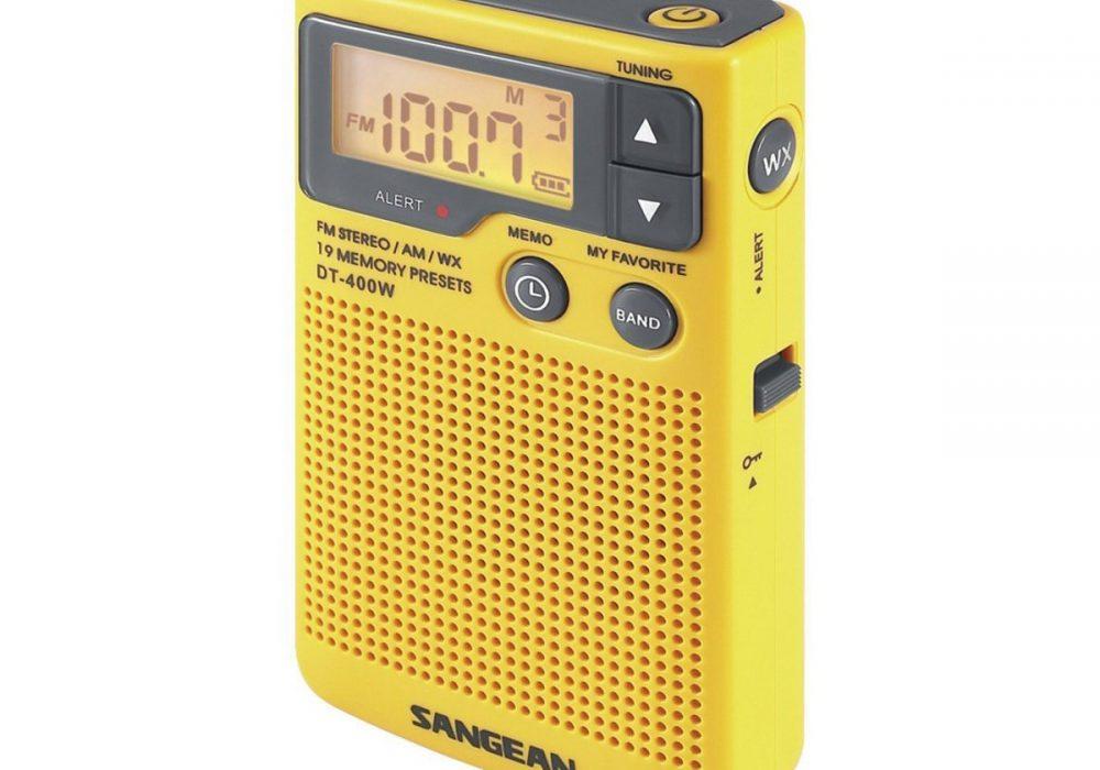 SANGEAN DT-400W AM/FM 迷你收音机