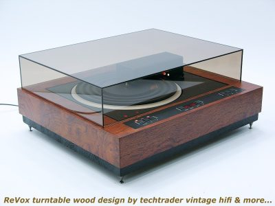 wood design based on ReVox B791 黑胶唱机
